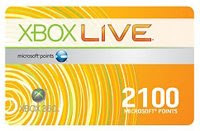 Xbox 360 Live 2100 Points Card