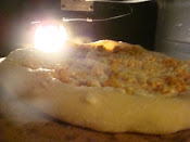 Pizza in home oven
