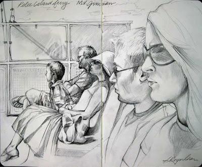 sketchbook pelee island ferry graphite moleskine
