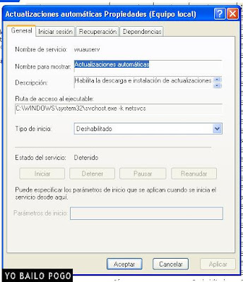 Quitar actualizaciones automaticas de Windows