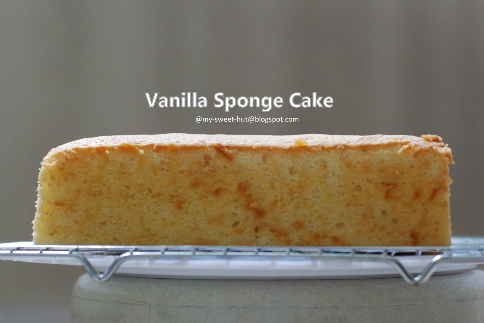 My sweet hut vanilla sponge cake basic for Basic vanilla sponge