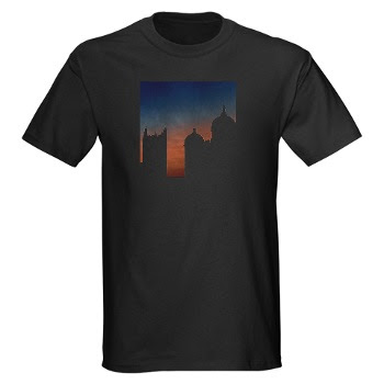 DAY+7+BLOG Black Durham sunset skyline t shirt