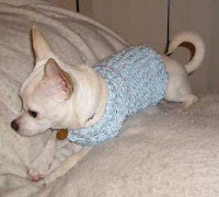 Knitting Pattern Dog Sweater Chihuahua : Off the Loom: Knifty Knitter Chihuahua or Small Dog ...