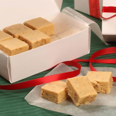 ... of the velveeta fudge on top of the peanut butter fudge it is yummy