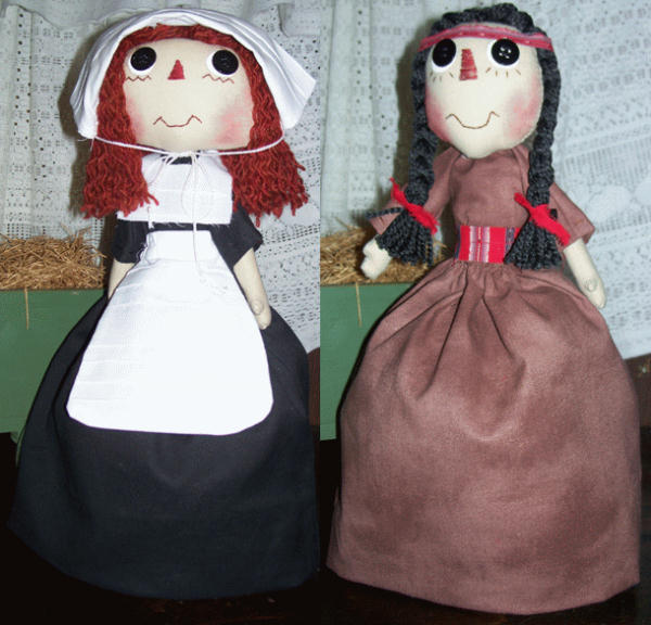 Among Country Friends patterns for country and primitive rag dolls