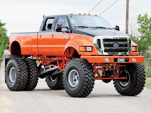 Big Ford Trucks: Lifted Ford Trucks Working Wonders
