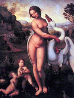 Leda y el cisne, Leonardo da Vinci