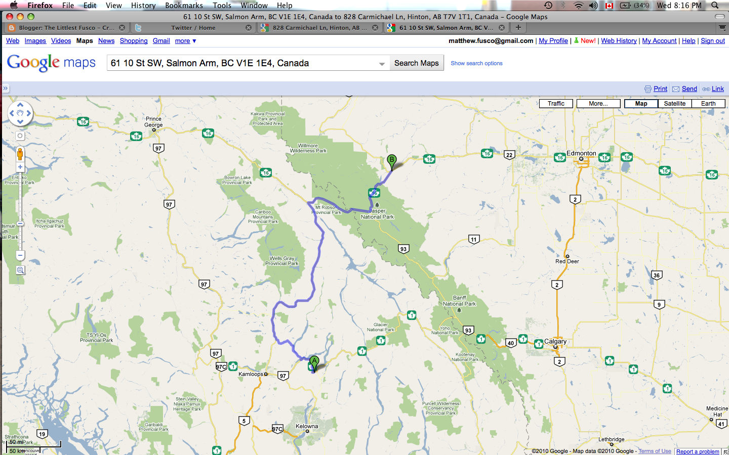 The Littlest Fusco Day 44 Salmon Arm Bc To Hinton Ab