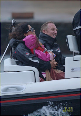 Salma Hayek Cruising With Valentina Francois