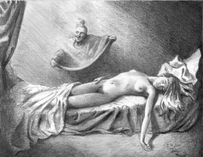 Acrisio, Dánae y la lluvia dorada