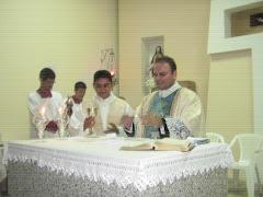 Cenáculo e missa com o Coordenador dos Cenáculos no RN, padre Stanley de Currais Novos