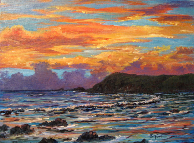 fawn's paintings guam impressionism