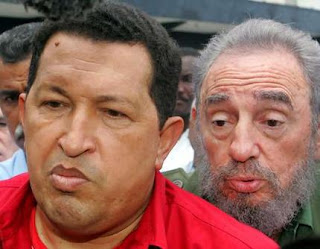 two monkeys -chavez with castro