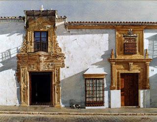 Calle San Pedro, Osuna watercolor by José González Bueno