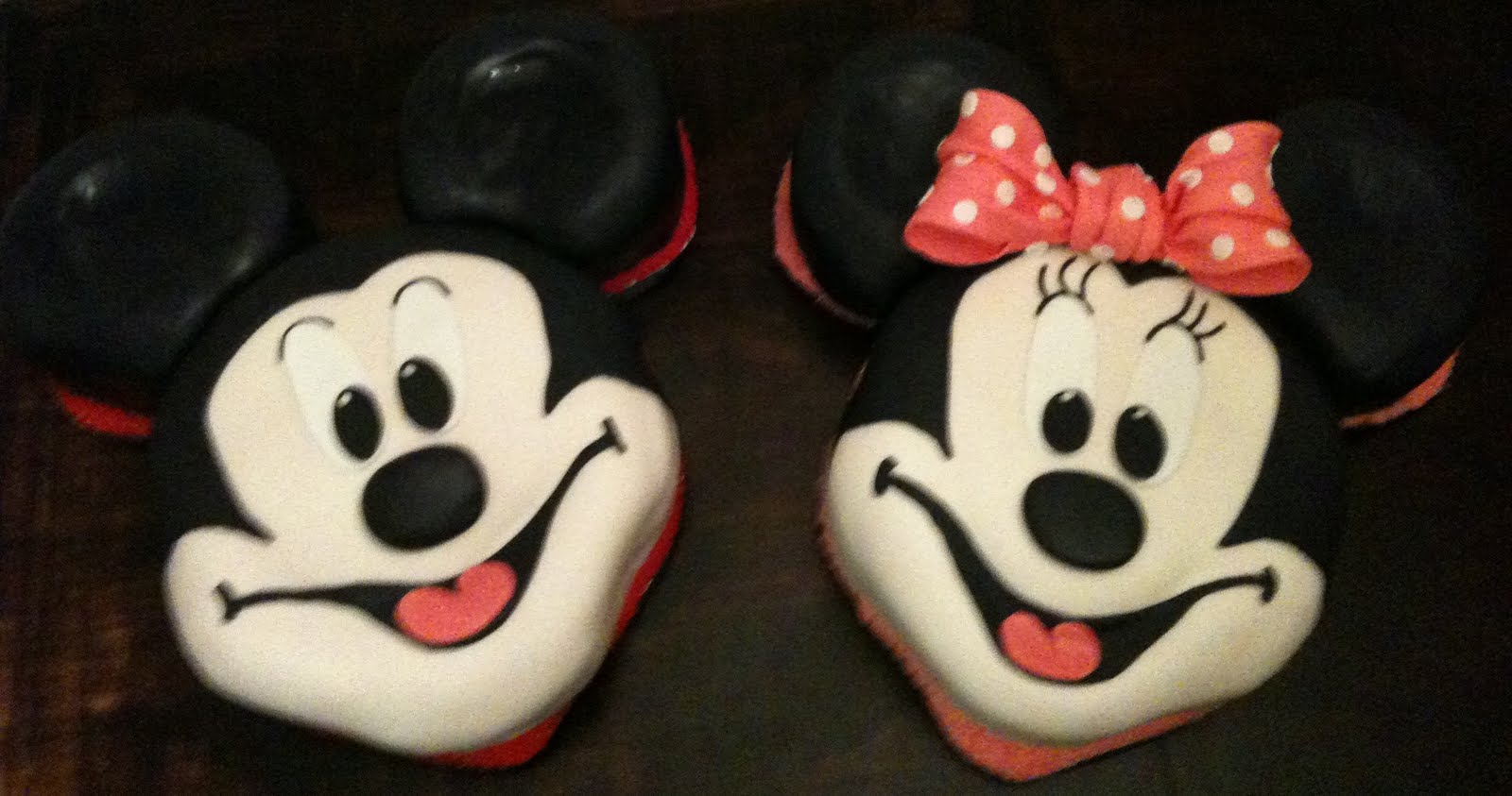 Pictures Of Mickey Mouse Face Cakes : sugar: Mickey & Minnie Mouse Face Cakes