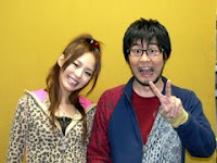 with radio co-host Washizaki Takeshi