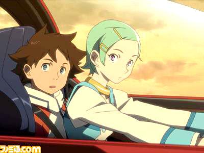 Renton (left, Yuuyu) and Eureka (Nazuka Kaori)