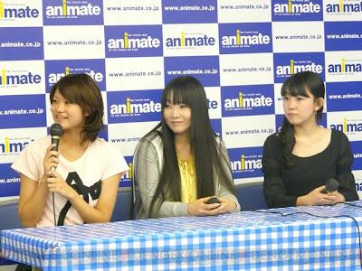 (l-r) Hayami Saori, Yukana, Takahashi Mikako