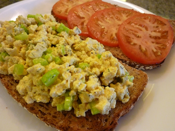 ... : Eggless Egg Salad Sandwich - A Delicious, Low Calorie Vegan Lunch