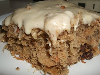 EatYourHeartOut: Carrot-Spice Cake with Caramel Frosting