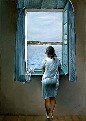 LA PRINCESA OLVIDADA Dali-mujer-en-la-ventana