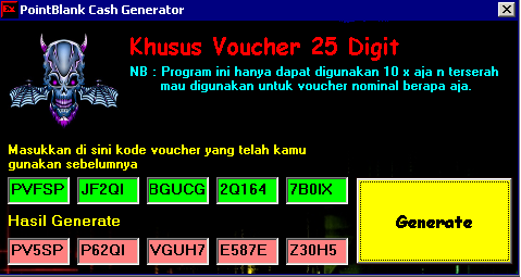 CASH GRATIS POINT BLANK (LEGAL) DESEMBER 2010