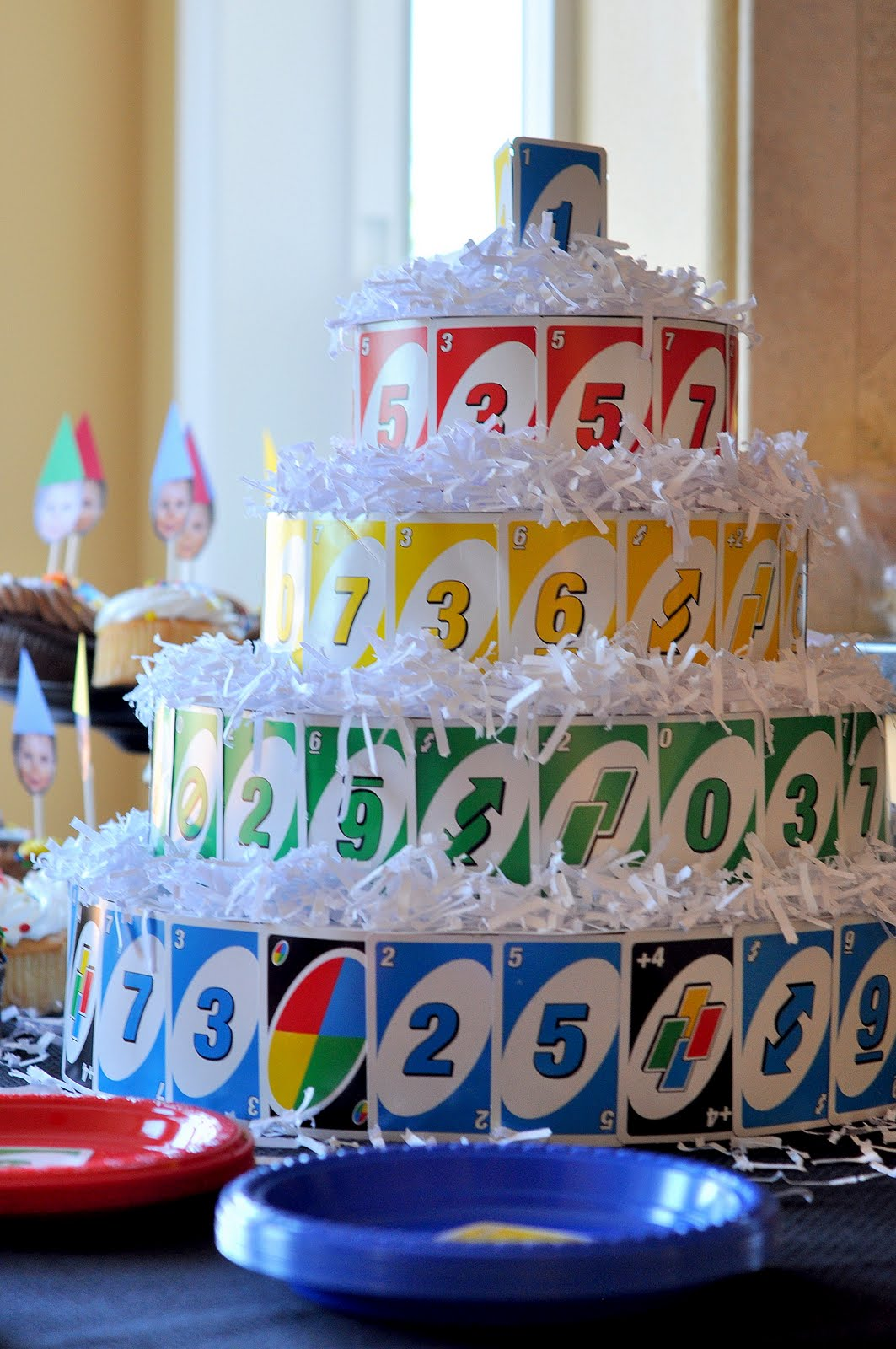 Craftily ever after max 39 s uno themed first birthday party for 1st birthday decoration ideas