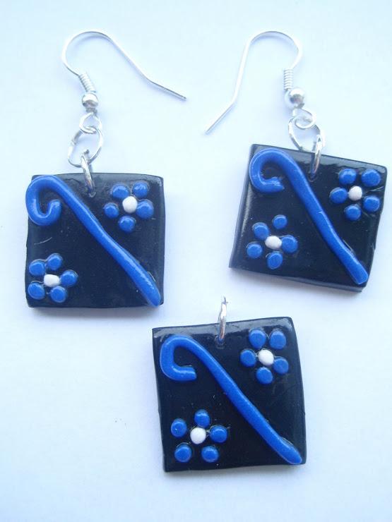 Set negru+albastru inchis. Cod 077. Pret 15 ron