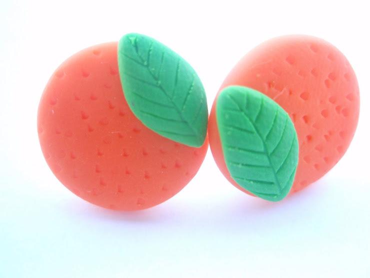 Cercei portocala - cod 006. Pret 10 ron