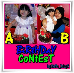 Birthday Contest By Mama_Balqis