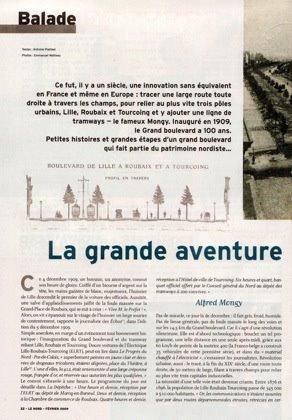 """La grande aventure du Grand Boulevard dans la revue du Conseil Général """" Le Nord """" de février 2009"""