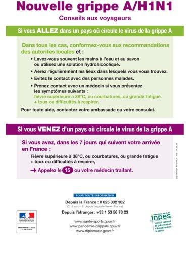 Nouvelle grippe A (H1N1) Conseils aux voyageurs