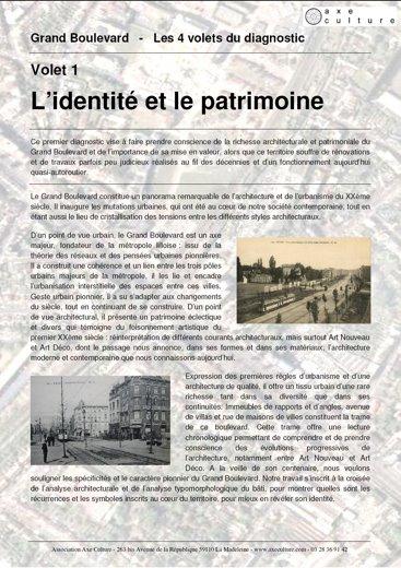 Volet 1 : L'identité et le patrimoine
