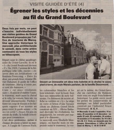 Visite guidée du Grand Boulevard avec l'Office de tourisme de Marcq-en-Barœul