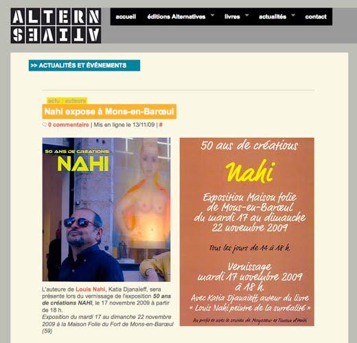 Nahi expose à Mons