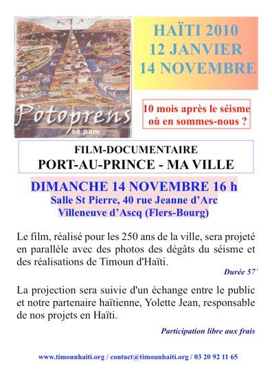 Une projection le 14 novembre 2010