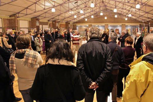 Vernissage à la Maison Folie de Mons de l'exposition de Bénédicte Logié