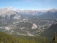 The Rockies (from top of Sulphur Mountain)