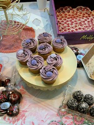 Upmarket Truman Brewery Brick Lane cupcakes lavender