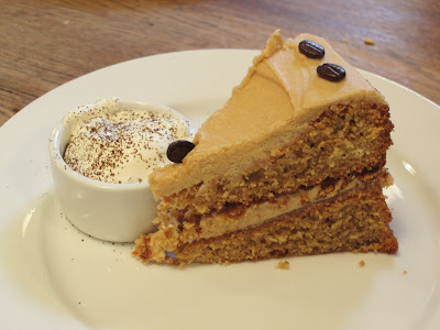 J and A cafe Clerkenwell coffee cake