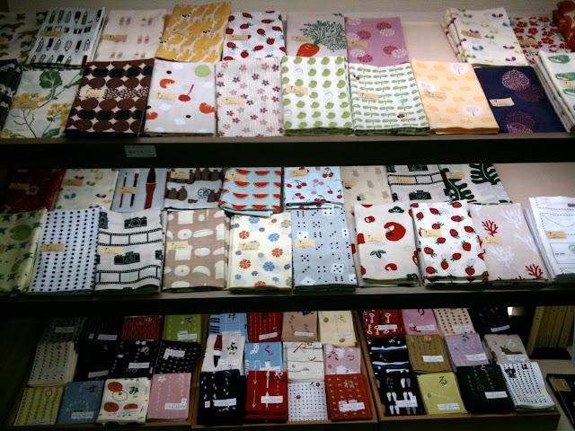 A pile of furoshiki