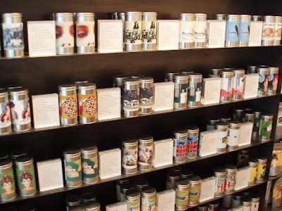 Postcard Teas Bond Street tea selection tins