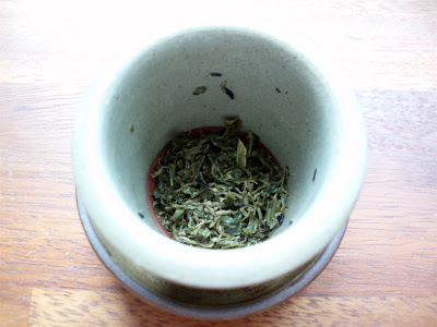 Postcard Teas Laoshan tea leaves