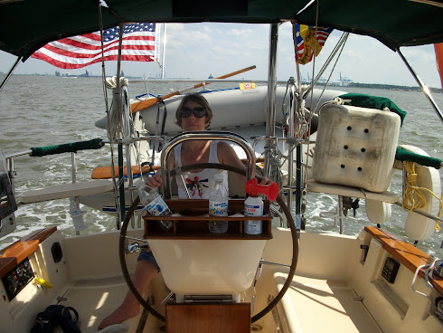 Queen of Deck Fluff and First Mate at the Helm