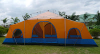 Our Newly Redesigned Four Room Cabin Tent  The Condo  & Happy Campers - Pinnacle Tents: Our Newly Redesigned Four Room ...