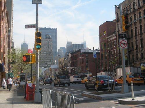 Manhattan Streets 8th+Ave+bike+lane,+Manhattan.+Photo+courtesy+of+Jimmy+Lin
