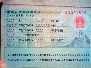 kinesisk visum