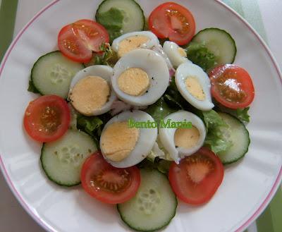 Salad mentimun dan tomat
