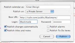 iCal publish calender