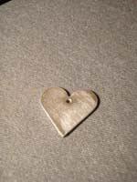 15 papel lija 1   Colgante corazón plano